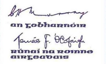 1978-81 B Series £10, Type 1,  signatures C. H. Murray & Tomás F. Ó Cofaigh