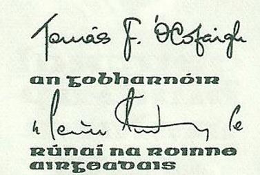 1982-87 B Series £1, Type 3,  signatures Tomás F. Ó Cofaigh & Maurice Doyle