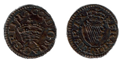 Harington Type 1a, privy mark = ermine (1613)
