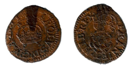 Maltravers Rose Farthing, Type 1