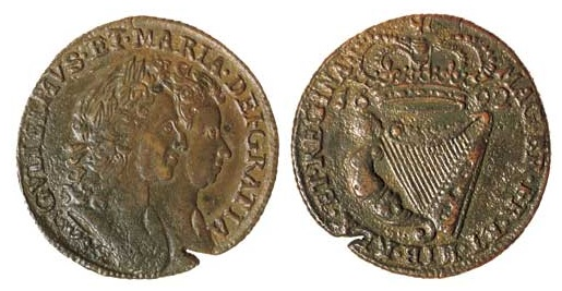William & Mary, halfpenny, 1692, (S6597) Edge flaw, good very fine and scarce
