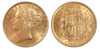1871 Victoria young head & shield