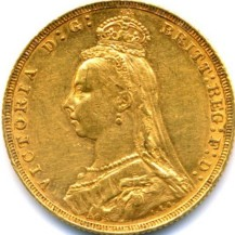 The Jubilee Head design meant to commemorate the 50th year of Queen Victoria's rule (1887-1893)