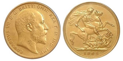 1902 Edward VII gold sovereign