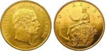 1906 Denmark 20 Krone Mermaid