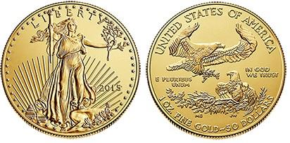 2015 USA - $50 'double eagle' bullion coin