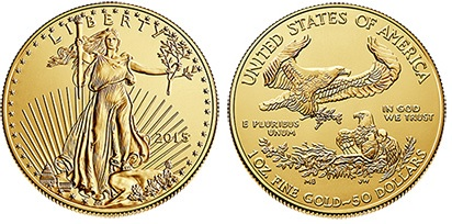 2015 USA - $50 'double eagle' bullion coin
