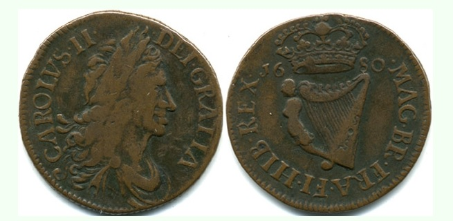 Armstrong & Legge's Regal Coinage - 1680 Halfpenny of 16 Strings