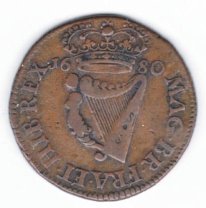 Armstrong & Legge's Regal Coinage - 1680 Halfpenny of 17 Strings, S.6574