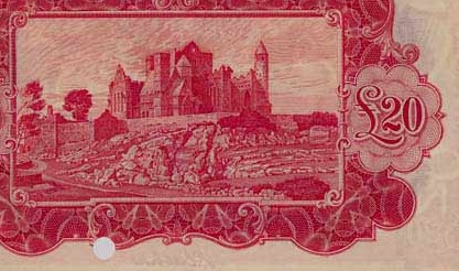 £20 'ploughman' note (reverse design - showing the Rock of Cashel, Co Tipperary)