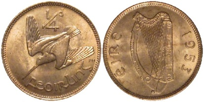 1953 Irish farthing
