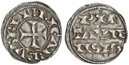 ANGLO-GALLIC. Richard I, the Lionhearted as Count of Poitou, 1172-1189. Denier, 0.95g (Elias 8), nearly very fine