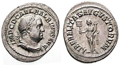 Balbinus Denarius. 238 AD. IMP C D CAEL BALBINVS AVG, laureate draped bust right / LIBERALITAS AVGVSTORVM, Liberalitas standing left holding coin counter & cornucopiae. RSC 10