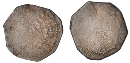 Confederate Catholics, Halfpenny, Kilkenny, 4.03g/3h (S 6555). 'X' scratched on obverse, fair