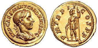 Gordian III AV Aureus. Rome, AD 239. IMP CAES M ANT GORDIANVS AVG, laureate, draped and cuirassed bust right