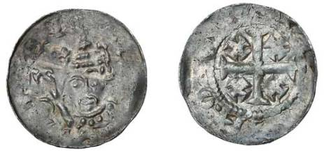 Henry II of England, Cross and Crosslets (Tealby) Class C Penny, 1158-1180 Moneyer possibly Willem of Newcastle. S.1339