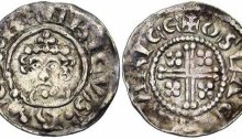 Henry II of England, Short Cross Class 1B Penny, Moneyer Oslac of Worcester