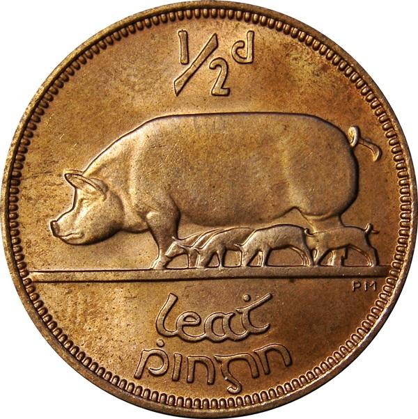 O Brien Coin Price Guide Irish Pre Decimal Halfpenny
