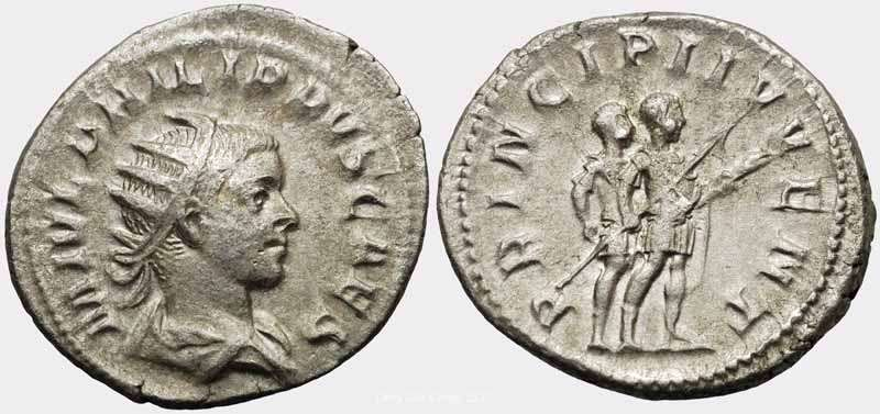 Ancient Orderly Philippe Ii 247-249 Antoninianus