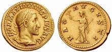 Roman Gold Aureus of Maximinus I (235-238 C.E.)