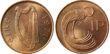 1971 Ireland decimal penny