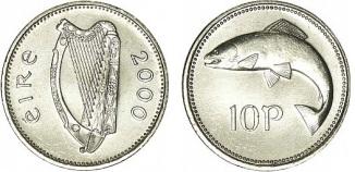 Ireland 2000 Tenpence / 10p (small format)