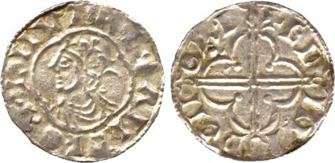 Cnut (1016-1035) Type 1 penny, quatrefoil type, Norwich, Edmund. These are the equivalent to Hiberno-Norse, Phase I (Class E) that Sihtric 'imitated' between 1016-1018 in Dublin.