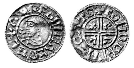 Hiberno-Norse, Phase I, Class A Penny, blundered legends but vestiges of the royal name of Æthelred and the Dublin mint-signature
