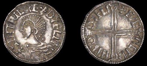 Hiberno-Norse, Phase I, Class B Penny, in imitation of the Long Cross type of Æthelred II, sihtric re+dyflin, bust left, rev. long cross, færemin m·o dyfli, 1.50g/4h (SCBI BM 21; S 6103; DF 5). Well-struck on a neat round flan, good very fine