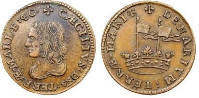 1659 Maryland, Lord Baltimore's Denarium (Penny) 2