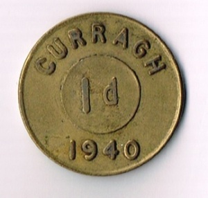 Ireland: 1940 Curragh Prisoner of War Camp 1d Token