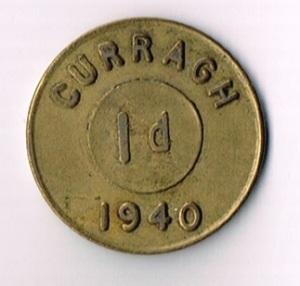 Ireland: 1940 Curragh Prisoner of War Camp 1d Token