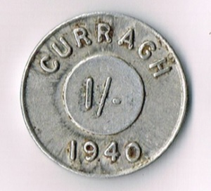 Ireland, Eire, 1940 Curragh Prisoner of War Camp 1s Token