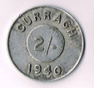 Ireland, Eire, 1940 Curragh Prisoner of War Camp 2s Token