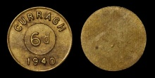 6d Curragh Camp token 1940