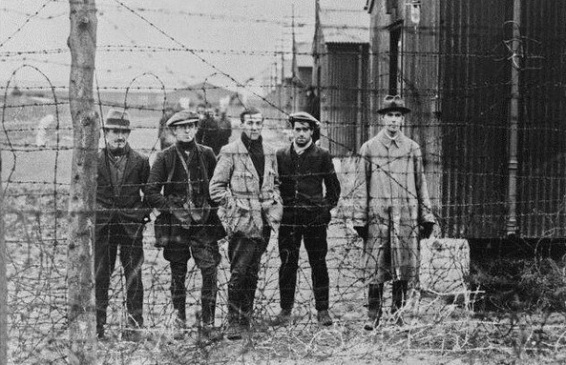 Over the following year almost 2,000 men were interned at Ballykinlar. It gained a reputation for brutality: three prisoners were shot dead + five died from maltreatment
