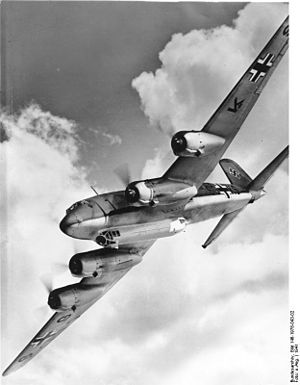 The Focke-Wulf Fw 200 Condor, also known as Kurier to the Allies was a German all-metal four-engined monoplane originally developed by Focke-Wulf as a long-range airliner. A Japanese request for a long-range maritime patrol aircraft led to military versions that saw service with the Luftwaffe as long-range reconnaissance and anti-shipping/maritime patrol bomber aircraft. The Luftwaffe also made extensive use of the Fw 200 as a transport. It achieved success as a commerce raider before the advent of long-range RAF Coastal Command aircraft and CAM ships eliminated its threat.