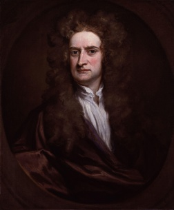Isaac Newton in a 1702 portrait by Godfrey Kneller