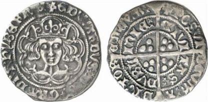 Edward IV 1465 heavy portrait groat, Dublin mint