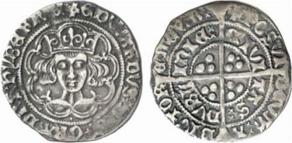 Edward IV 1465 heavy portrait groat, Dublin mint