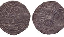 Edward IV 1467 Irish double groat, sun & roses coinage, Dublin mint
