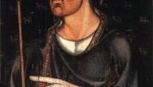 Portrait in Westminster Abbey, thought to be of Edward I