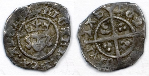 Richard II silver penny. Early Bust. Withers 1f. N1333b. London. VF, extremely rare