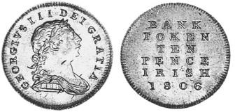 1806 5d Bank of Ireland Token