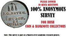 Please answer 10 quick questions in a 100% anonymous Irish coin and banknote collector survey