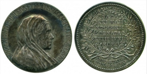Silver Medal published by Reginald Huth, dated 1882 for Victoria, Mrs C F Huth, 1901, wife of Charles Frederick Huth, merchant and banker
