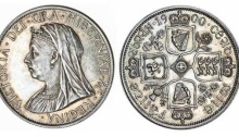 Victoria proof pattern Double-Florin, 1900, 22.65g, by Reginald Huth