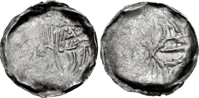 Hiberno-Norse, silver Penny Phase VII coinage. Domnall mac Taidc Ua Briain – Brotar mac Torcaill. Struck c. AD 1130-1150