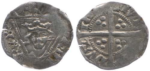 Edward III Halfpenny, Dublin mint