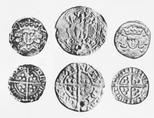 O'Reilly Money - Edward III, pre-Treaty issues, London mint, ex Grainger coll., wts. 29.6, 29.1 and 28.8 grains